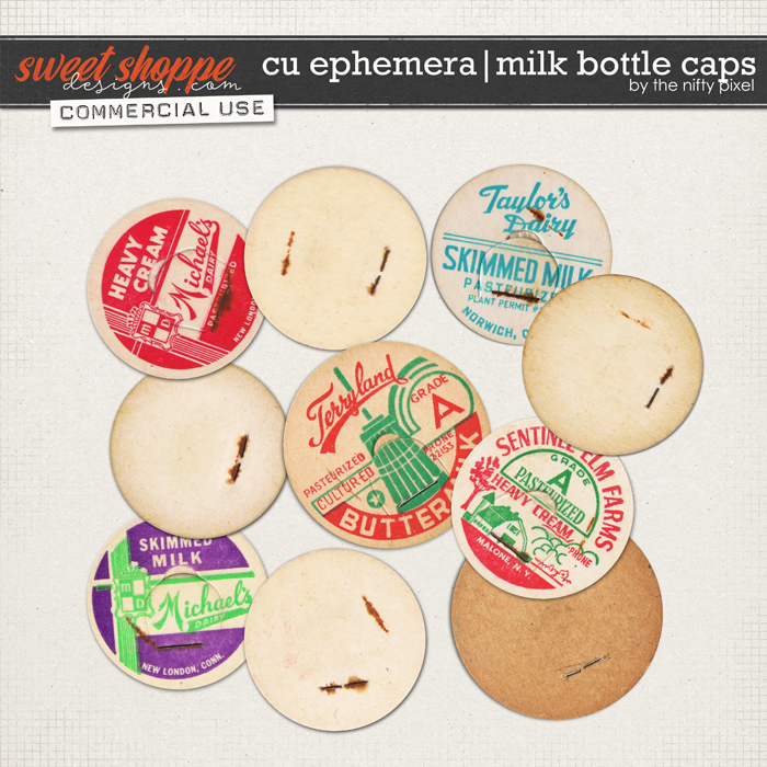 CU EPHEMERA | MILK BOTTLE CAPS by The Nifty Pixel