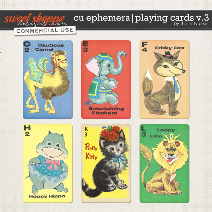 CU EPHEMERA | PLAYING CARDS V.3 by The Nifty Pixel