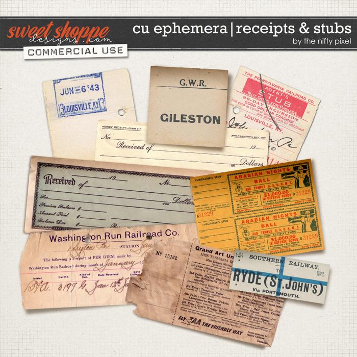 CU EPHEMERA   RECEIPTS & STUBS by The Nifty Pixel