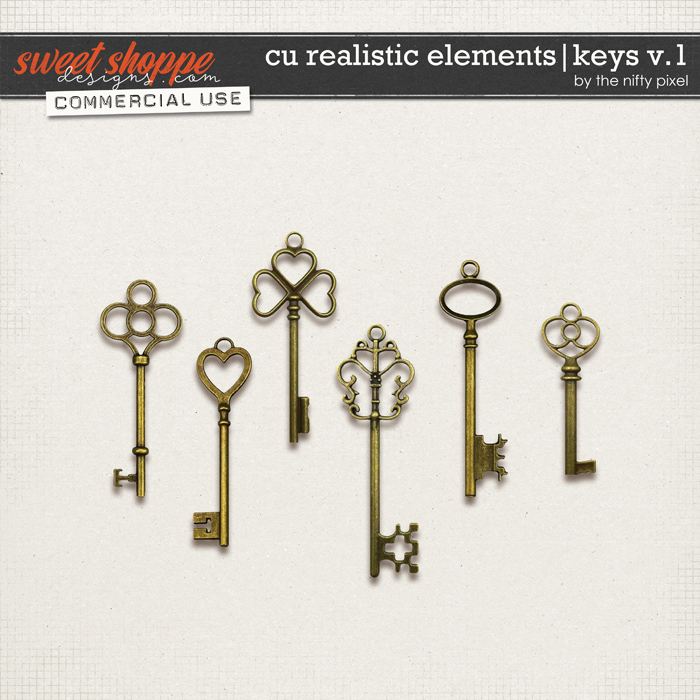 CU REALISTIC ELEMENTS | KEYS V.1 by The Nifty Pixel