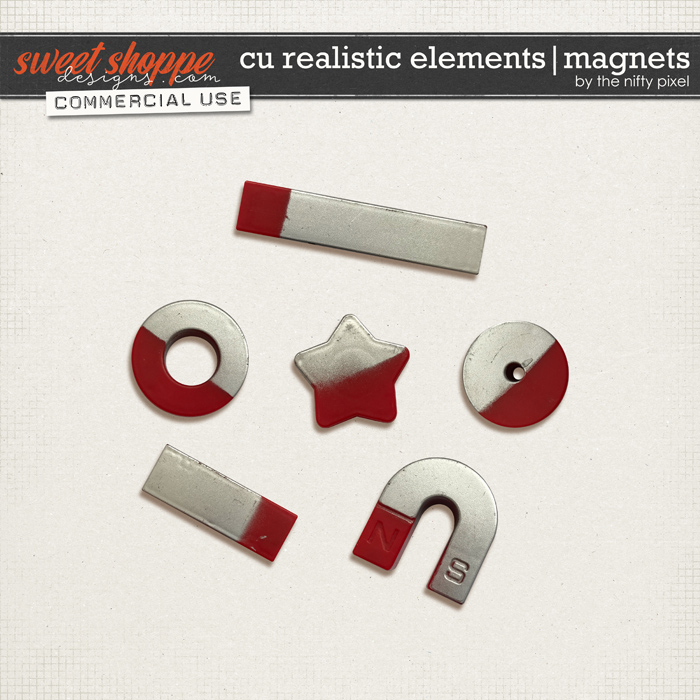 CU REALISTIC ELEMENTS | MAGNETS by The Nifty Pixel