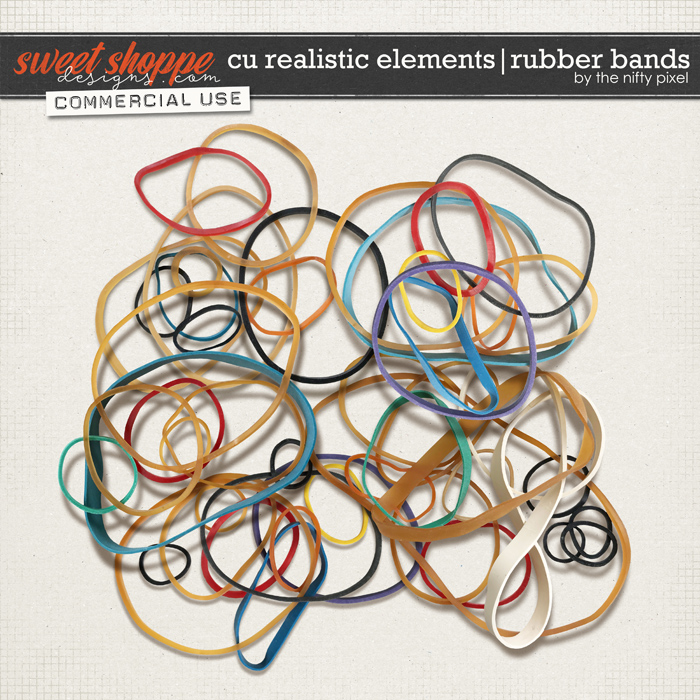 CU REALISTIC ELEMENTS | RUBBER BANDS by The Nifty Pixel