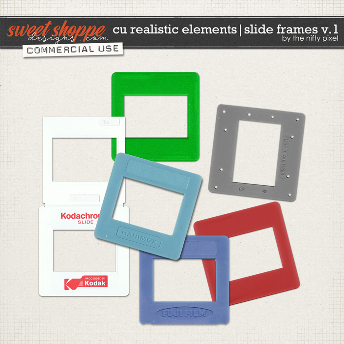 CU REALISTIC ELEMENTS | SLIDE FRAMES V.1 by The Nifty Pixel