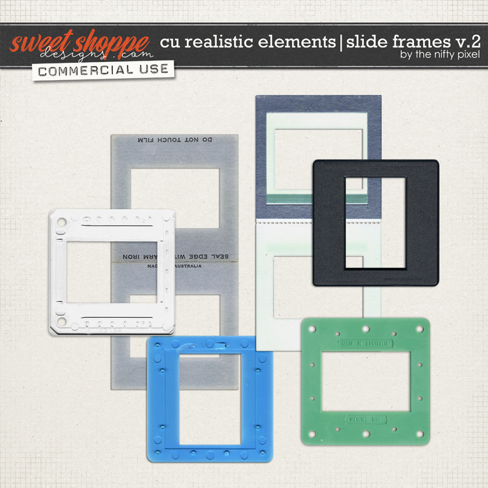 CU REALISTIC ELEMENTS | SLIDE FRAMES V.2 by The Nifty Pixel