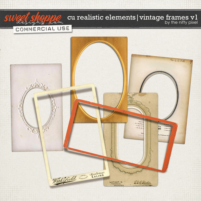 CU REALISTIC ELEMENTS | VINTAGE FRAMES Vol.1 by The Nifty Pixel
