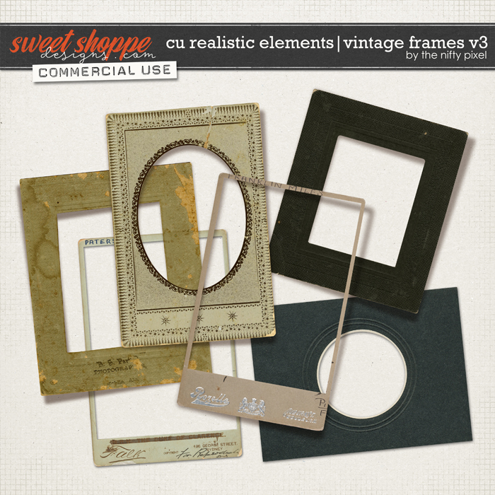 CU REALISTIC ELEMENTS | VINTAGE FRAMES Vol.3 by The Nifty Pixel