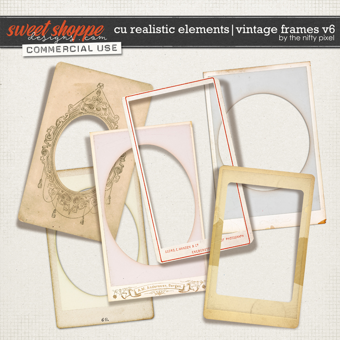 CU REALISTIC ELEMENTS | VINTAGE FRAMES Vol.6 by The Nifty Pixel