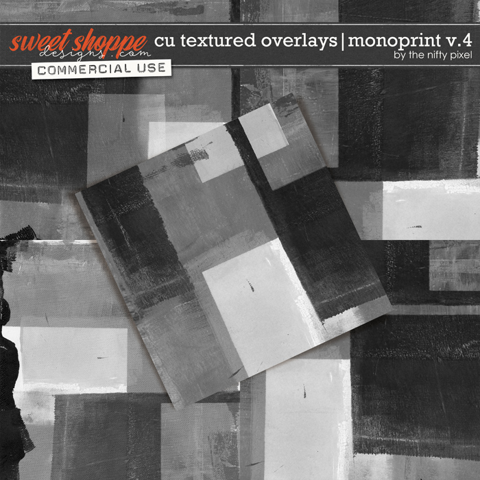 CU TEXTURED OVERLAYS | MONOPRINT V.4 by The Nifty Pixel