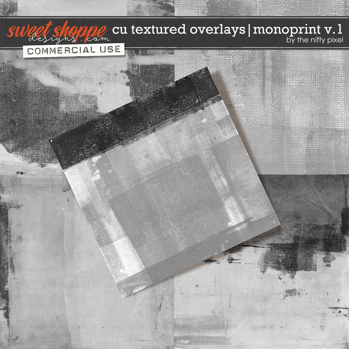 CU TEXTURED OVERLAYS | MONOPRINT V.1 by The Nifty Pixel