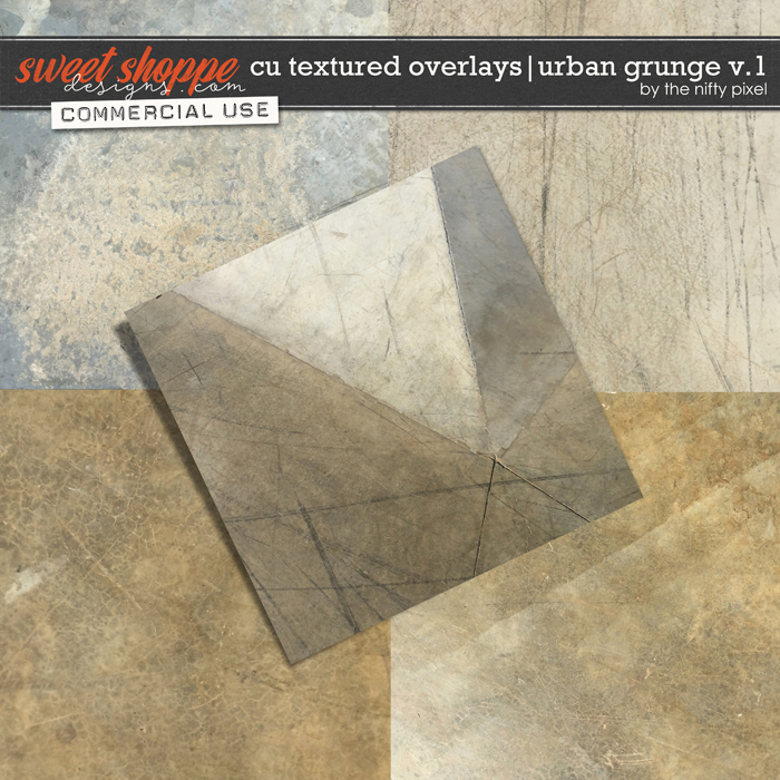 CU TEXTURED OVERLAYS | URBAN GRUNGE V.1 by The Nifty Pixel