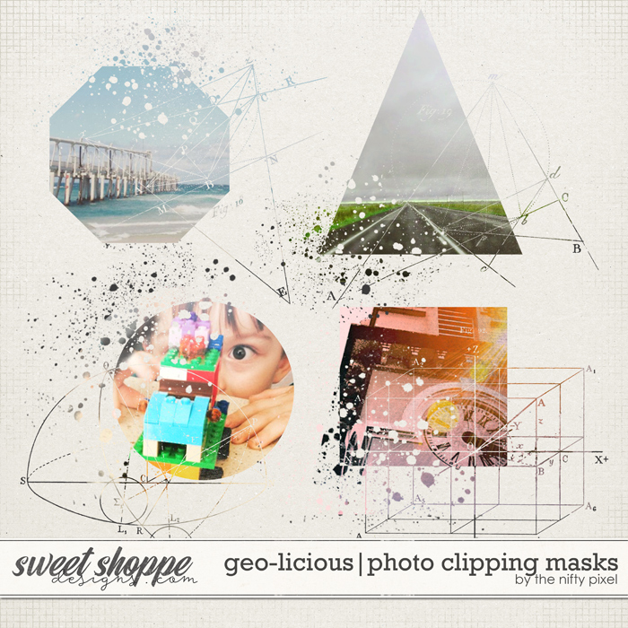 GEO-LICIOUS | CLIPPING MASKS by The Nifty Pixel