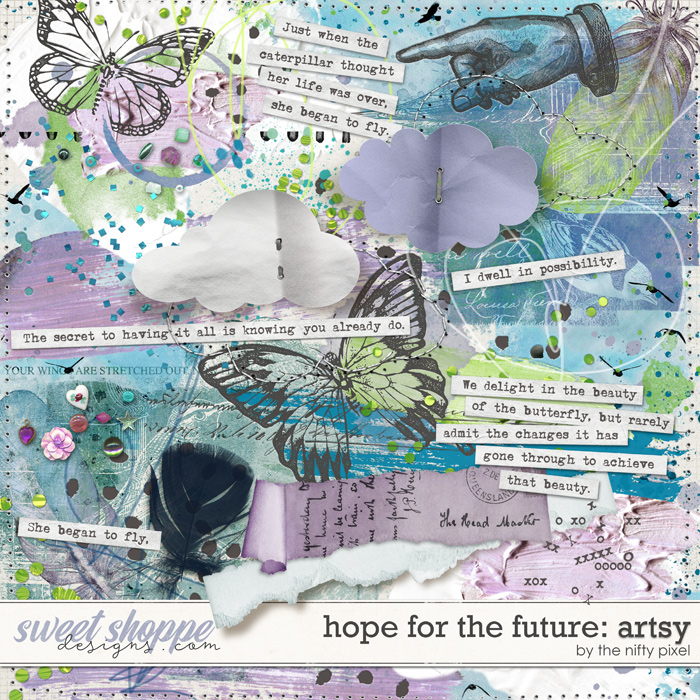 HOPE FOR THE FUTURE MIXED MEDIA | by The Nifty Pixel