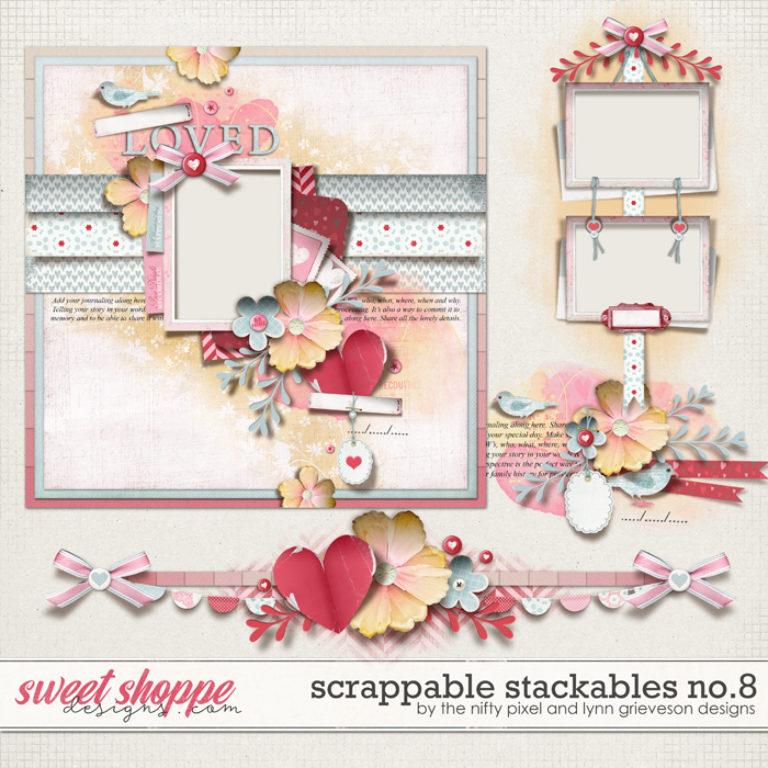 SCRAPPABLE STACKABLES No.8 | by The Nifty Pixel & Lynn Grieveson designs