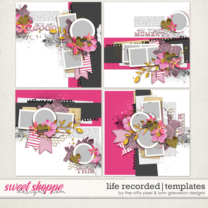 LIFE RECORDED | TEMPLATES by The Nifty Pixel & Lynn Grieveson Designs