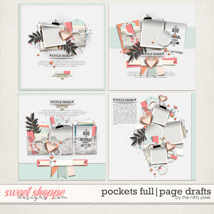 POCKETS FULL   PAGE DRAFTS by The Nifty Pixel