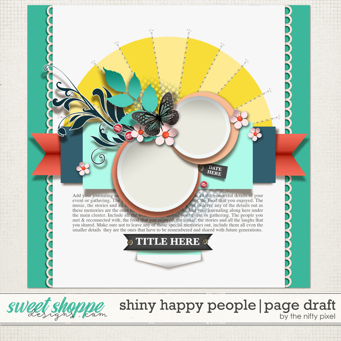 SHINY HAPPY PEOPLE | TEMPLATE by The Nifty Pixel