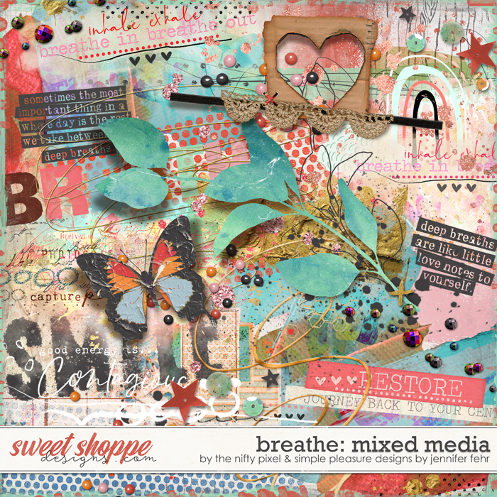 BREATHE MIXED MEDIA by Simple Pleasure Designs & The Nifty Pixel