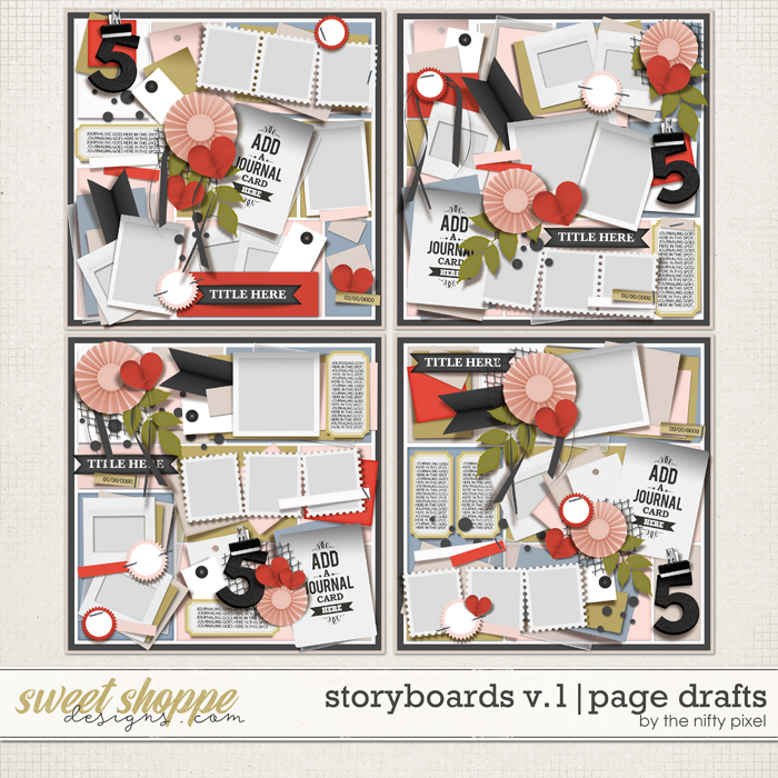 STORYBOARDS V.1 | PAGE DRAFTS by The Nifty Pixel