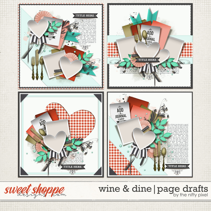 WINE & DINE PAGE DRAFTS   by The Nifty Pixel