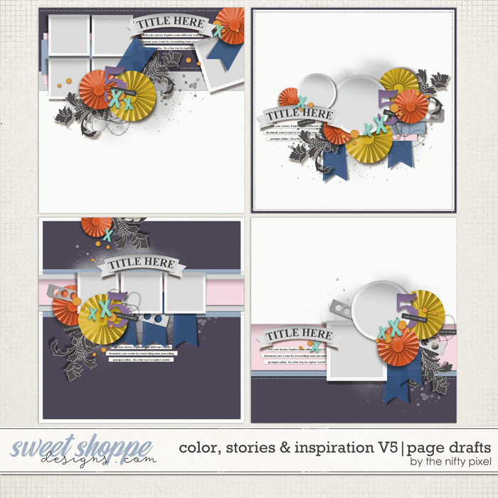 COLOR, STORIES & INSPIRATION V.5 | PAGE DRAFTS by The Nifty Pixel