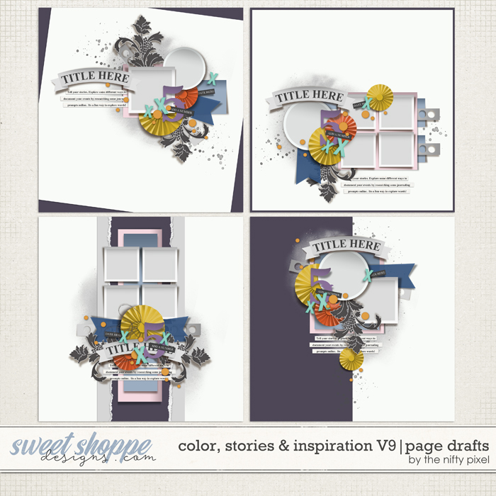 COLOR, STORIES & INSPIRATION V.9 | PAGE DRAFTS by The Nifty Pixel