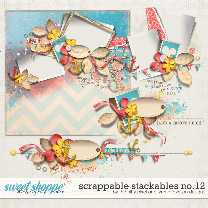 SCRAPPABLE STACKABLES No.12 | by The Nifty Pixel & Lynn Grieveson Designs