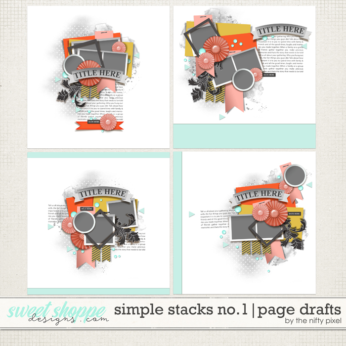 SIMPLE STACKS No.1 | PAGE DRAFTS by The Nifty Pixel