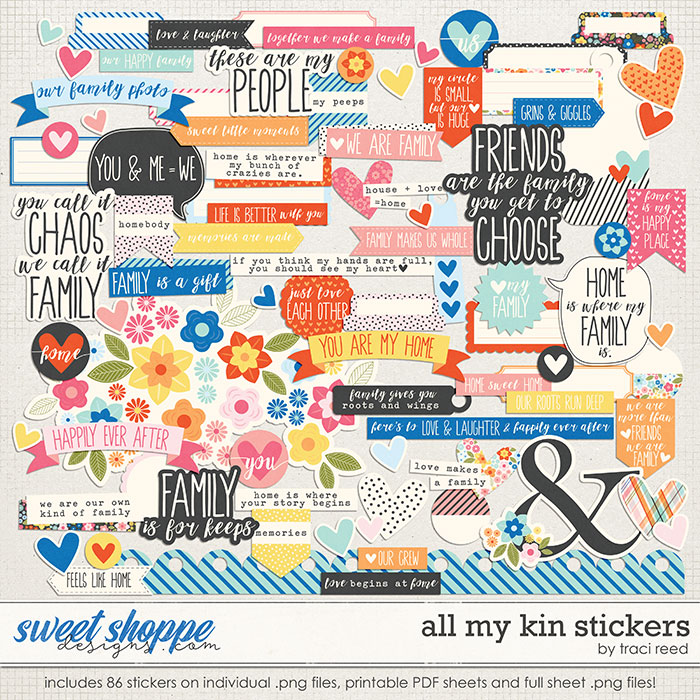 All My Kin Stickers by Traci Reed