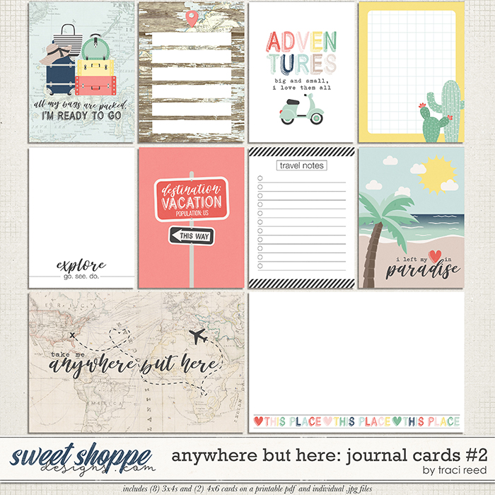 Anywhere But Here Cards #2 by Traci Reed
