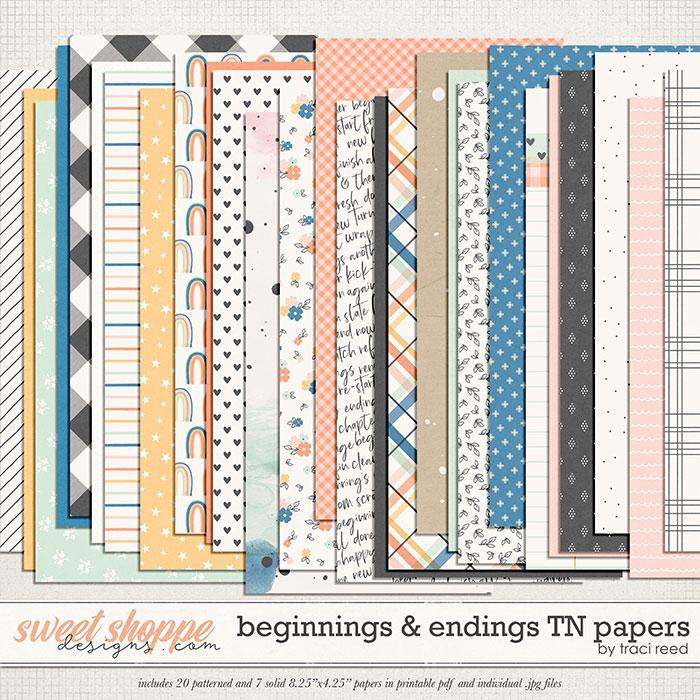 Beginnings & Endings TN Papers by Traci Reed
