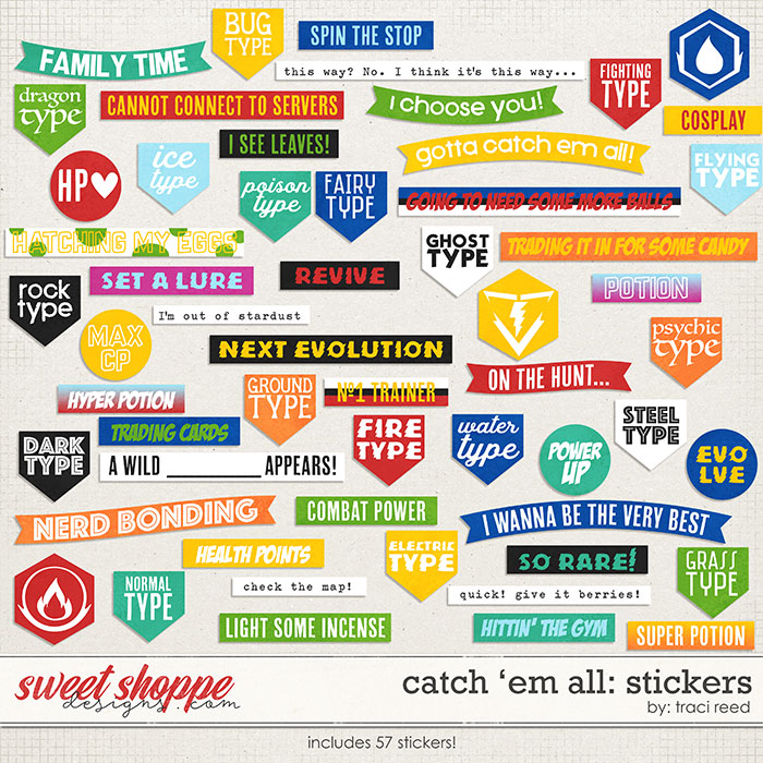 Catch 'Em All: STICKERS by Traci Reed