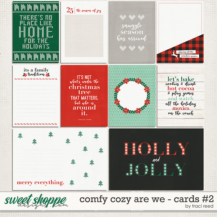 Comfy Cozy Are We 3x4 Cards #2 by Traci Reed