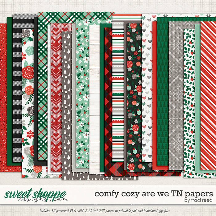 Comfy Cozy Are We Traveler's Notebook Papers by Traci Reed