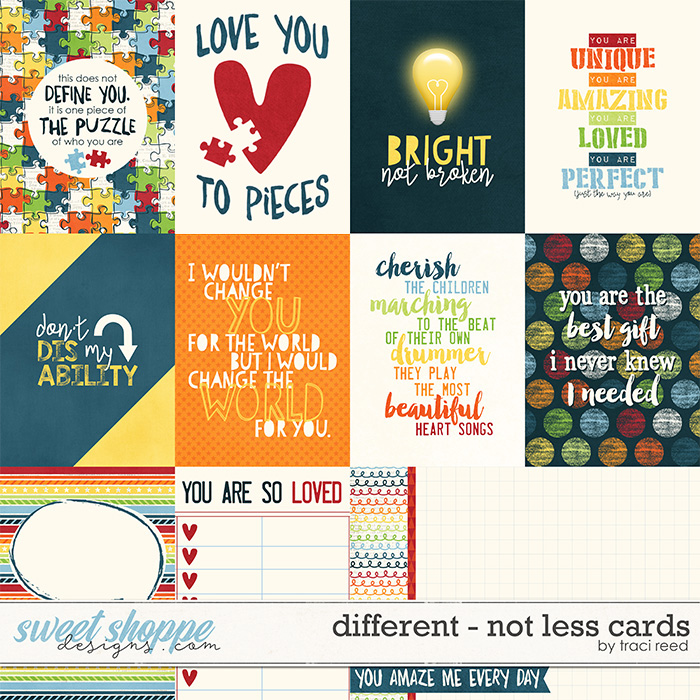 Different - Not Less Cards by Traci Reed