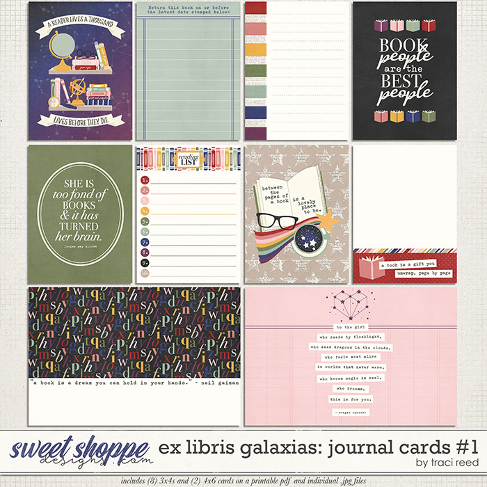 Ex Libris Galaxias Journal Cards #1 by Traci Reed