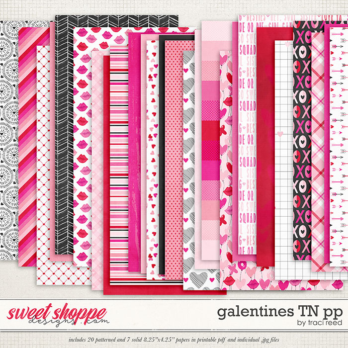 Galentines Traveler's Notebook Papers by Traci Reed