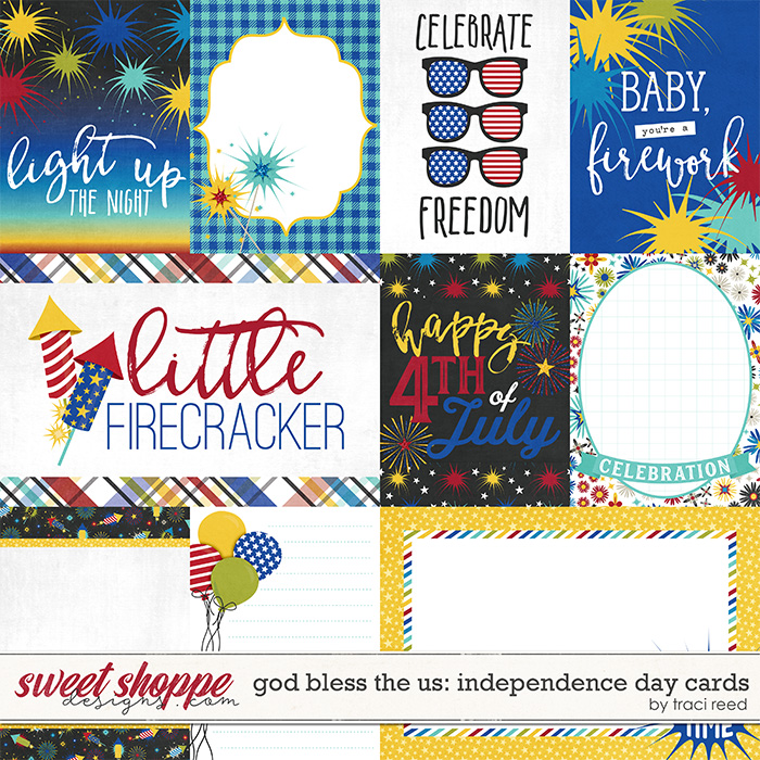 God Bless The US: Independence Day Cards by Traci Reed