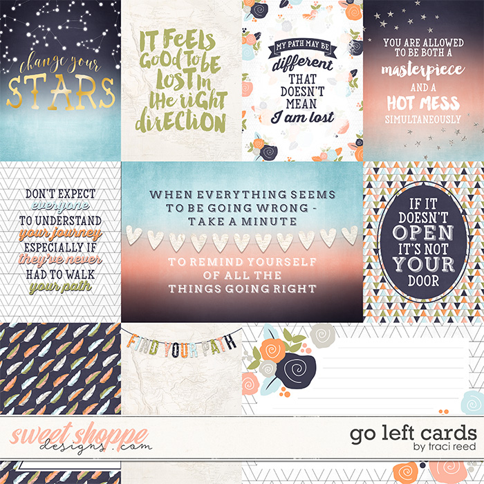 Go Left Cards by Traci Reed