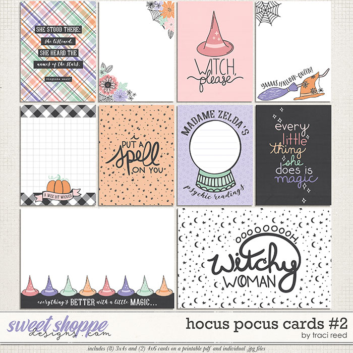 Hocus Pocus Journal Cards #2 by Traci Reed