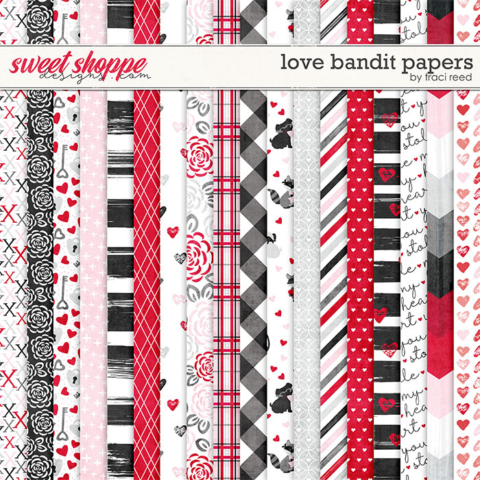 Love Bandit 12x12 Papers by Traci Reed