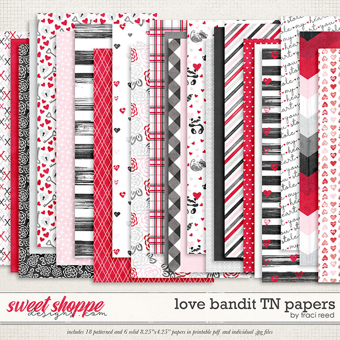 Love Bandit Traveler's Notebook Papers by Traci Reed