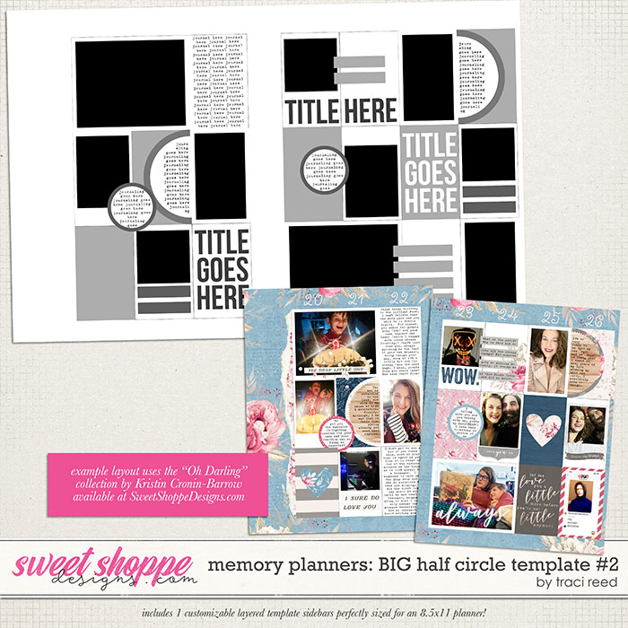 Memory Planners - Big - Half Circles #2 by Traci Reed