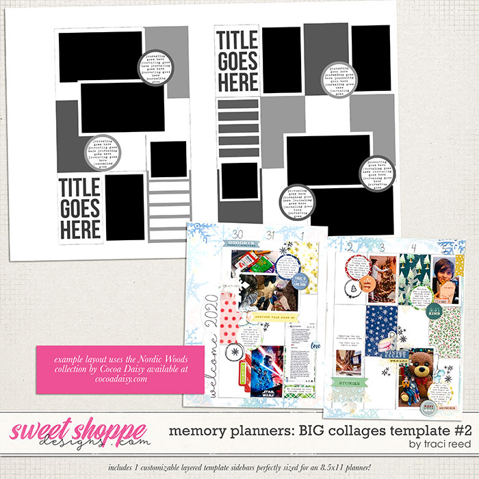 Memory Planners - Big - Collages #2 by Traci Reed