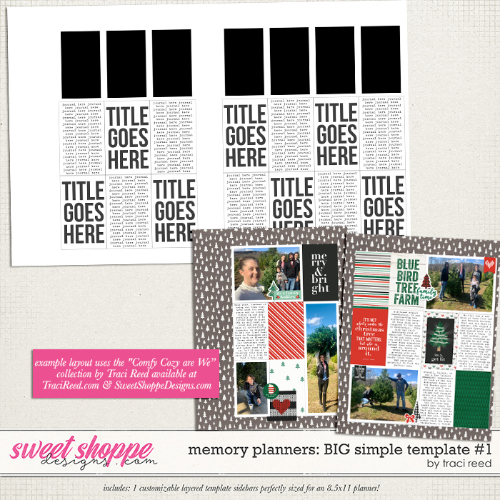 Memory Planners - Big - Simple #1 by Traci Reed