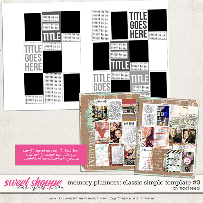 Memory Planners - Classic - Simple #3 by Traci Reed