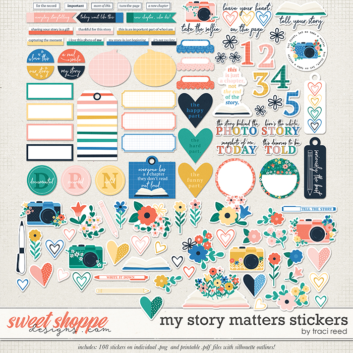 My Story Matters Stickers by Traci Reed