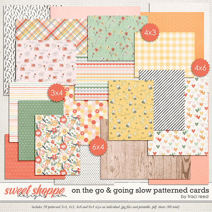 On The Go & Going Slow Patterned Cards by Traci Reed