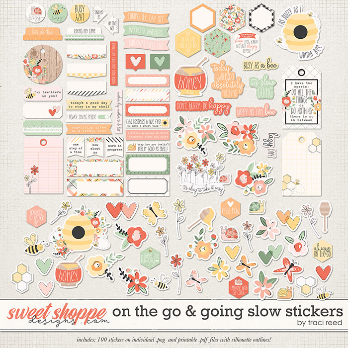 On The Go & Going Slow Stickers by Traci Reed