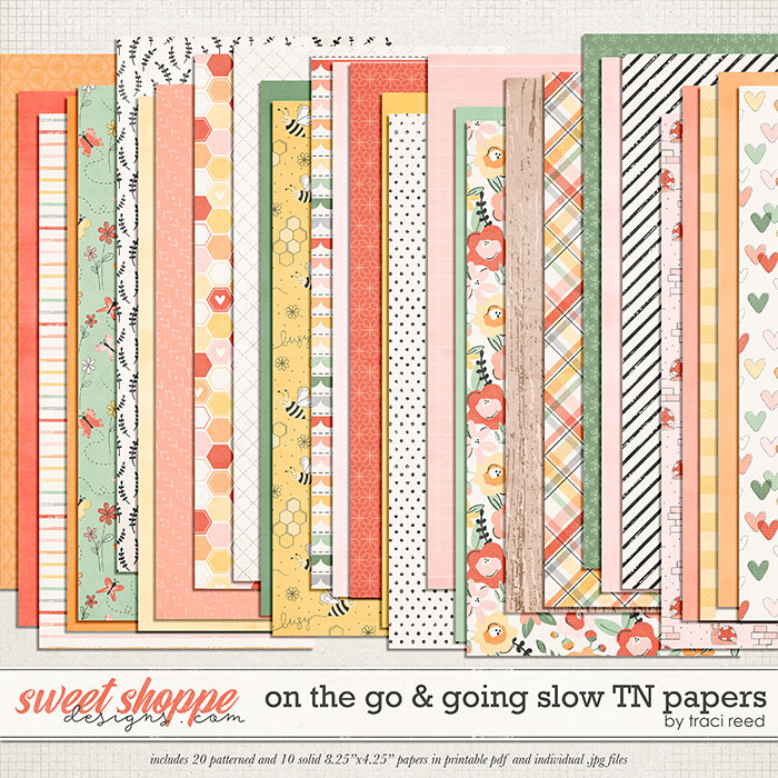 On The Go & Going Slow TN Papers by Traci Reed