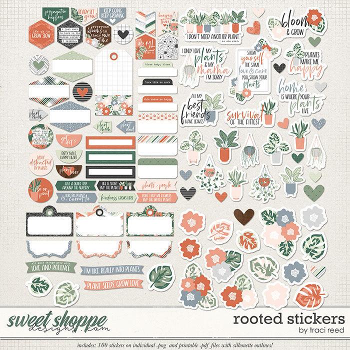 Rooted Stickers by Traci Reed